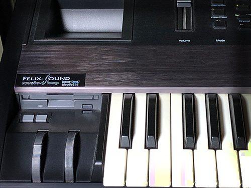 Diskettenlaufwerk und Patch Select Schalter